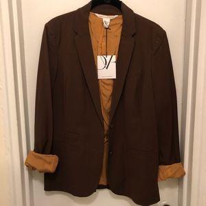 Diane von Furstenberg brown blazer size 6